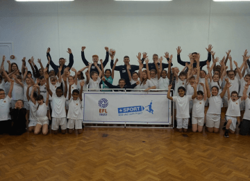 Sky Blues players turn up at primary school to encourage healthy living