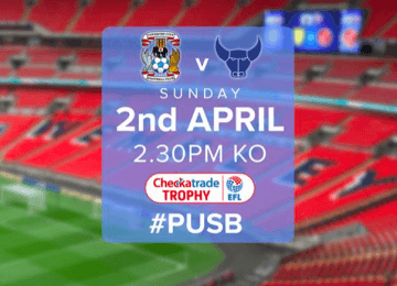 Final tickets for the EFL Trophy game at Wembley are now on sale