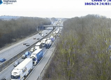 Man seriously injured after M6 smash involving two lorries and two cars