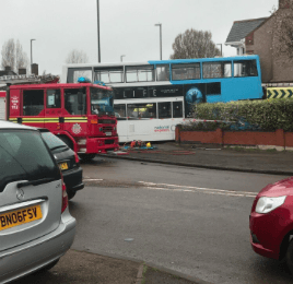 Bus crashes into side of house in Keresley