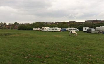 Primary school closes due to travellers camping on the grounds