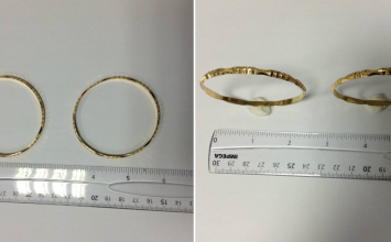 Police are looking for the owner of these beautiful gold bangles