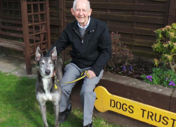 Long-serving Dogs Trust volunteer Ron given 90th birthday celebration