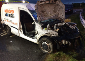 Man suffers head injury following collision in Norton Lindsey