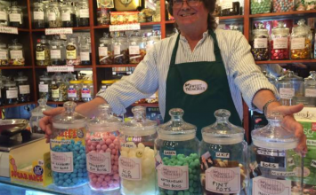 Meet the Warwick sweet shop owner predicting the election results – with bonbons